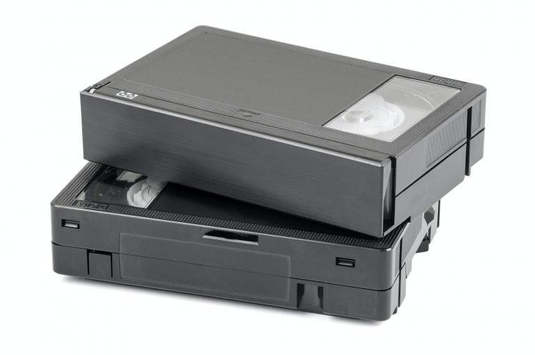 VHS-C video cassettes