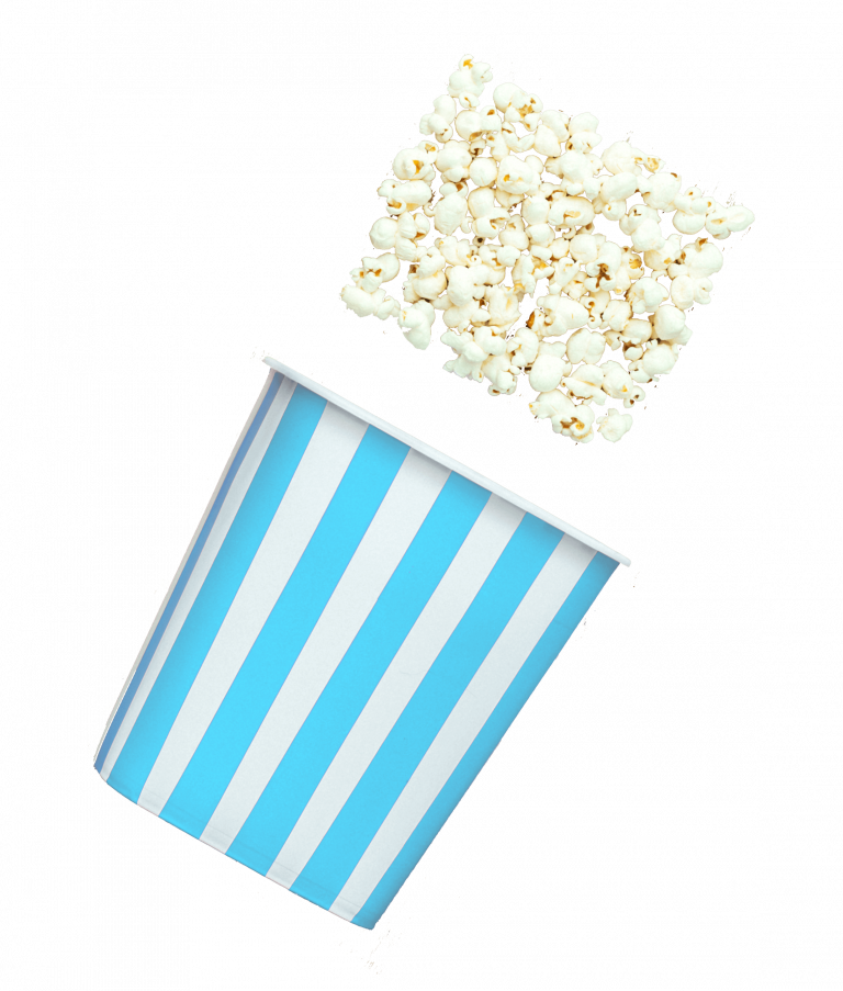 Watching VHS Tapes with Popcorn