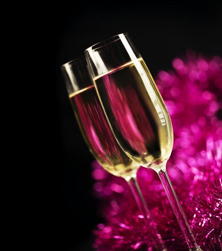 Home movie Champagne glasses Celebration