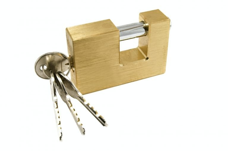 padlock To keep Tapes safe and trusted