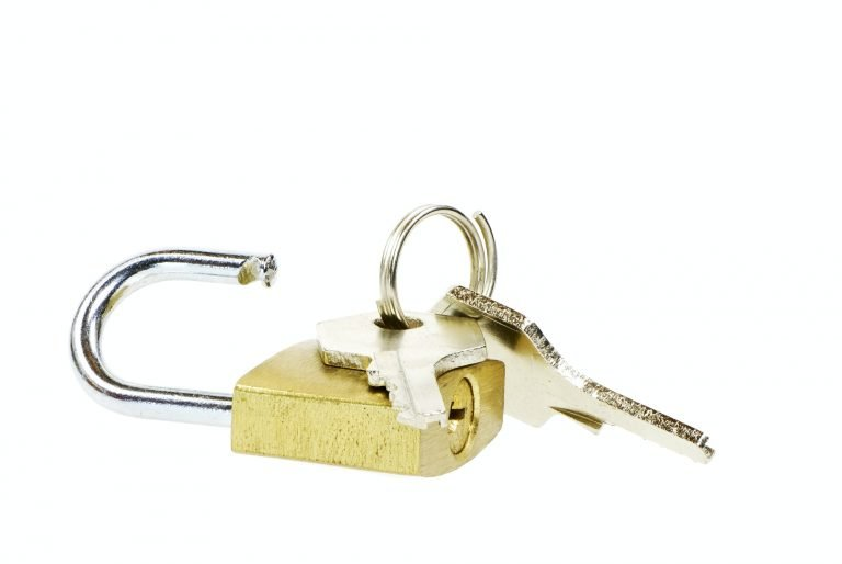 Padlock and Key for safe tape storage