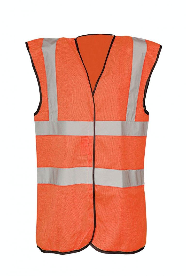 Safety video orange vest